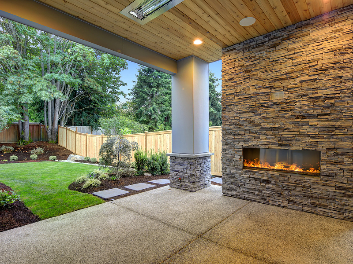 stone fireplace installation Middleton ID